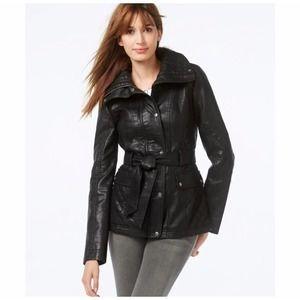 Jessica Simpson Leather Jacket Small